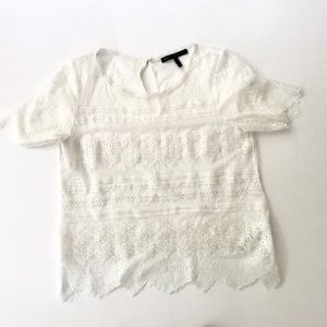 WHBM Lace Top